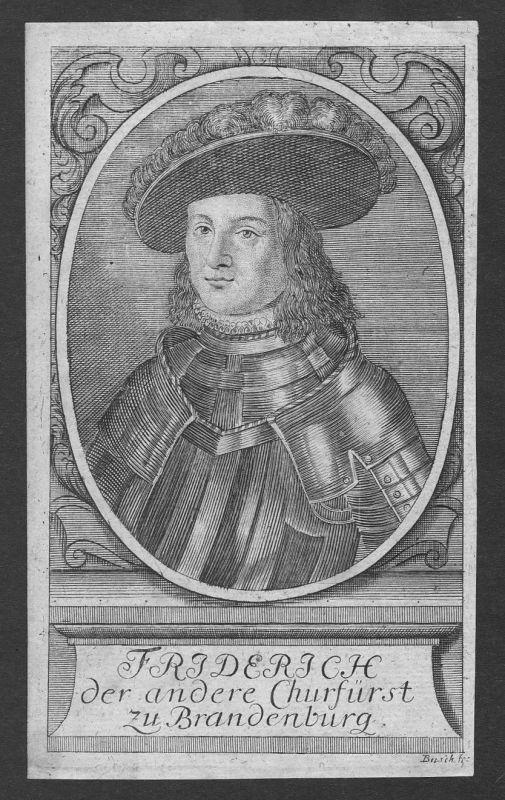 17. Jh Friedrich Wilhelm Kurfürst Brandenburg Portrait Kupferstich antique print