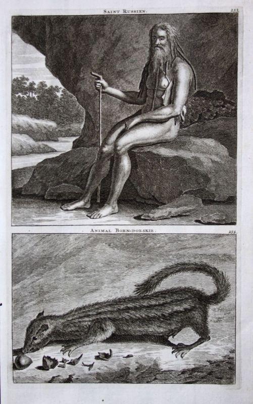 De Brujin Saint Russien heilige Mann Russland Russia Tier animal 1718