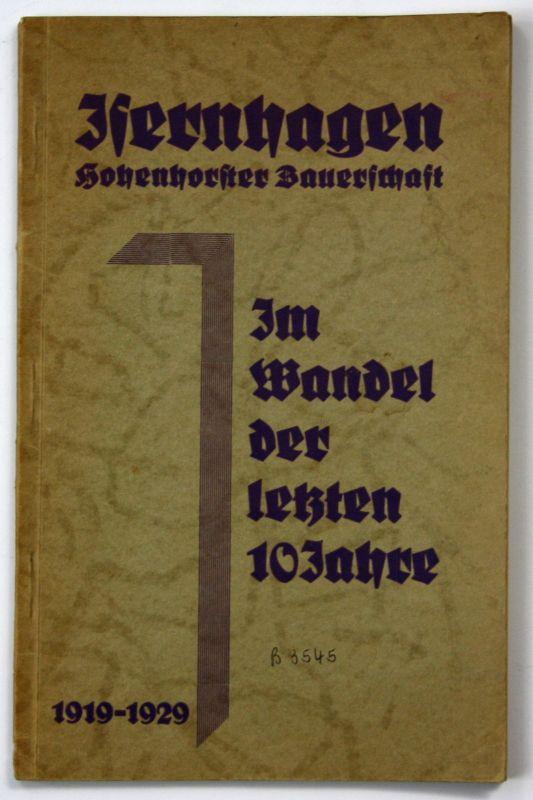 1929 Iserhagen Hohenhorster Bauerschaft Chronik 1919-1929 Landeskunde