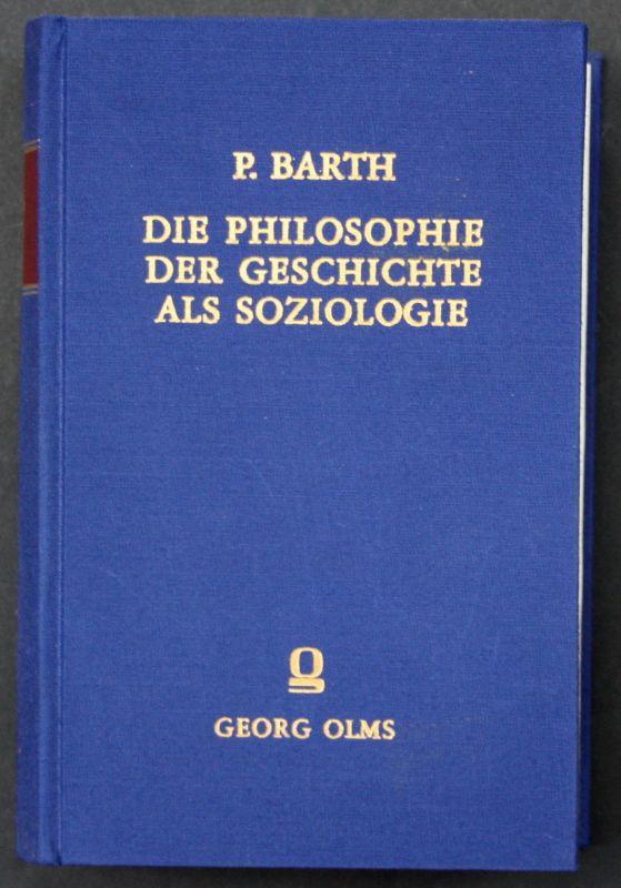 1971 Paul Barth Die Philosophie der Geschichte als Soziologie