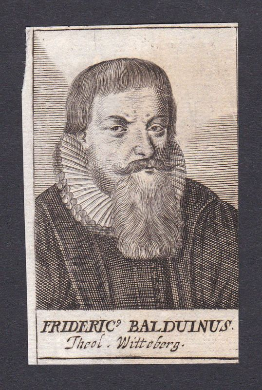 1680 Friedrich Balduin / theologian Theologe Wittenberg Portrait Kupferstich