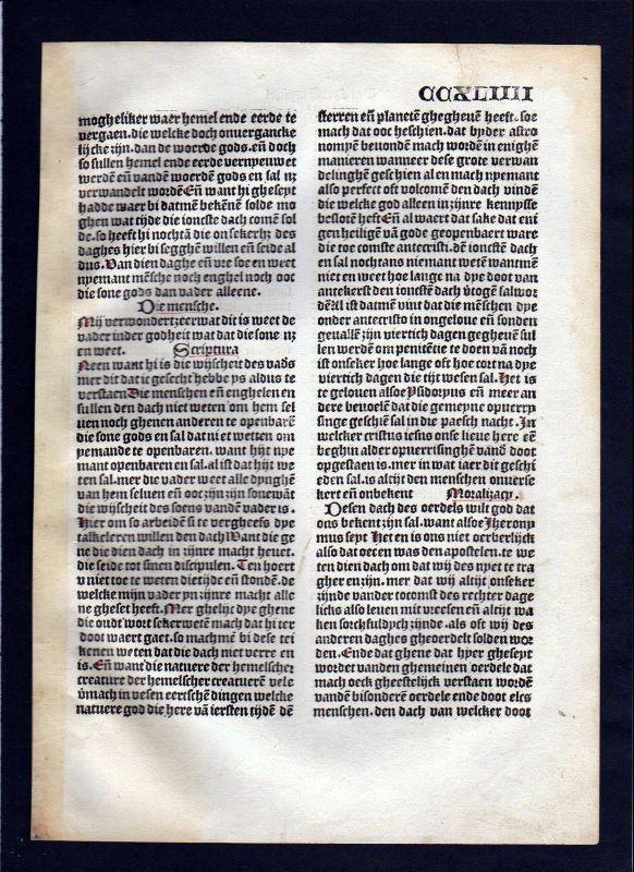 1499 Blatt CCXLIIII Inkunabel Vita Christi Zwolle incunable Dutch Holland