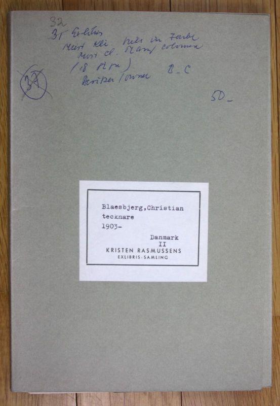 1962 Christian Blaesbjerg Exlibris Sammlung signiert Kristen Rasmussen