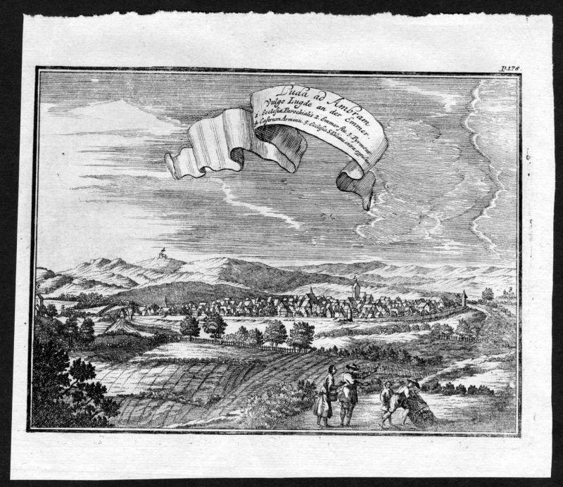 Ca. 1672 Lüdge an der Emmer Weser Kupferstich engraving 127399
