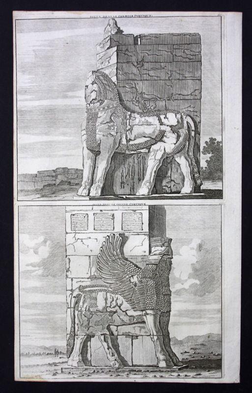 De Brujin Sphinx Sfinx Gate of All Nations Xerxes Persepolis Iran 1718