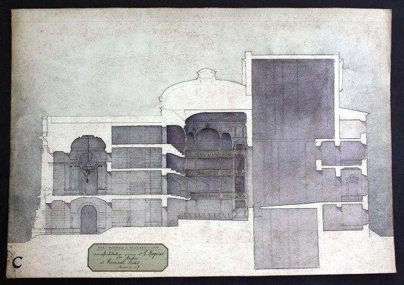 Durchschnitt Gebäude Architektur architecture design Zeichnung drawing Cu 156560