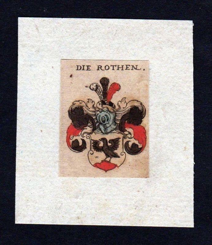 17. Jh. von Roth Rothen Wappen coat of arms heralrdy Heraldik Kupferstich