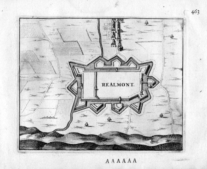1666 - Realmont Albi Frankreich France gravure estampe Kupferstich