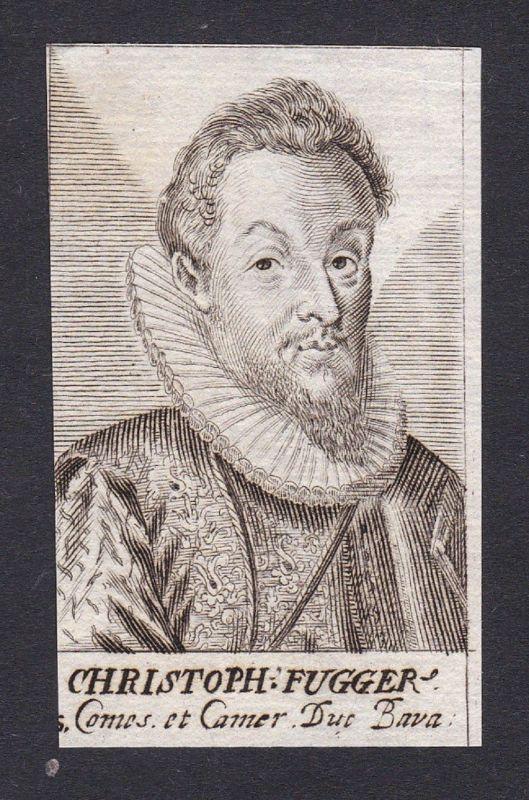 17. Jh. - Johann Christoph Fugger Registrant Nürnberg Praha Portrait Kupferstich