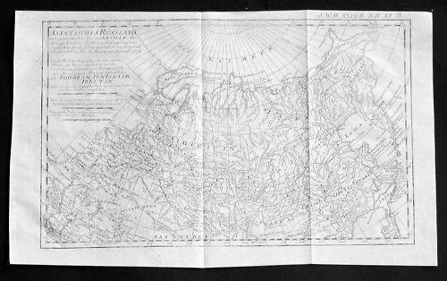 1759 - Russia Rußland Asia Asien map Karte Kupferstich
