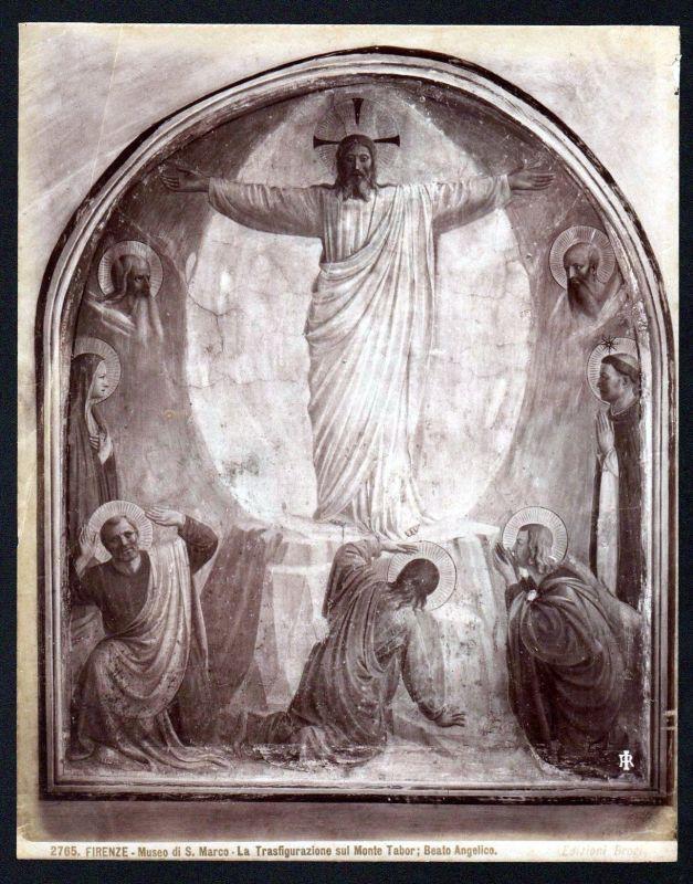 La Transfigurazione di Gesu Jesus Beato Angelico Firenze albumen photo vintage