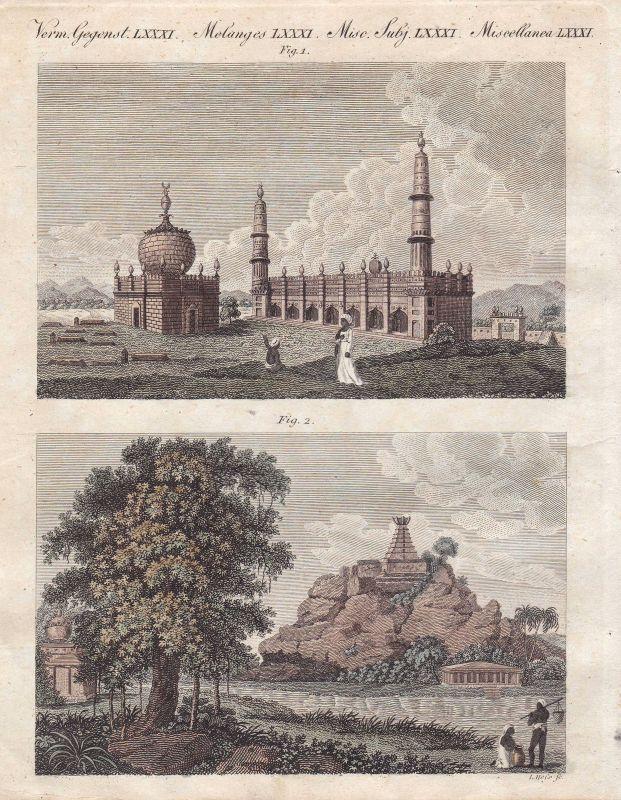 Pagode pagoda Moschee mosque Indien India Hindustan Bertuch 1800
