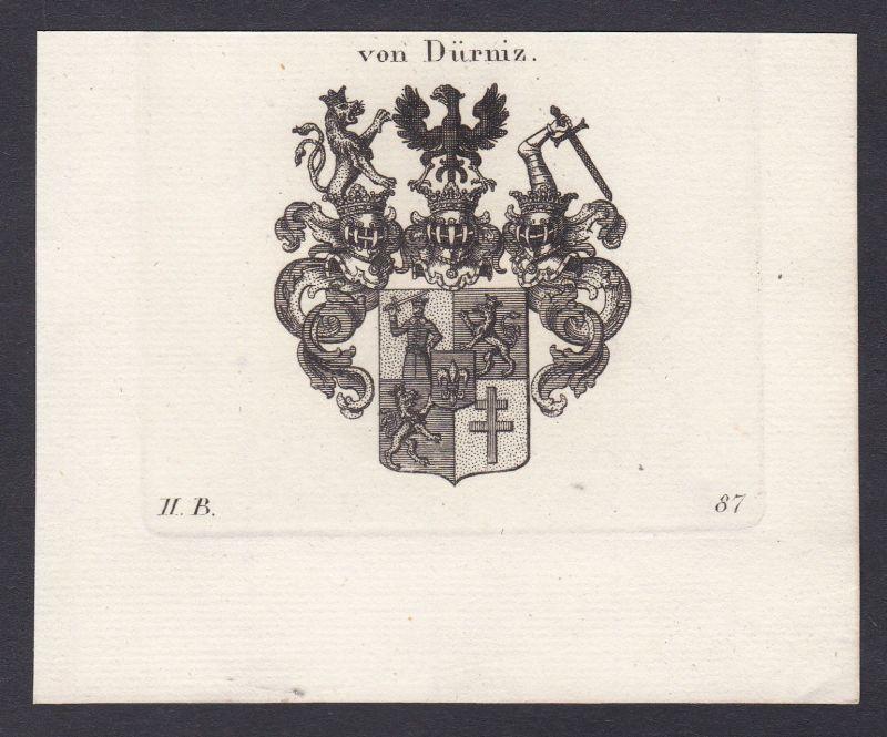 Dürniz Bayern Podewils Wappen Adel coat of arms Kupferstich antique print