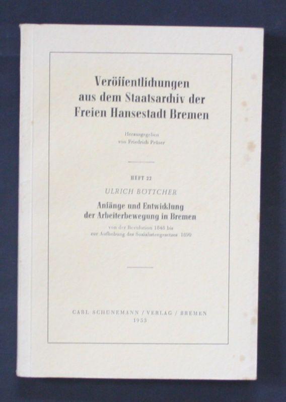 1953 Veröffentlichungen Staatsarchiv der Freien Hansestadt Bremen Böttcher Recht