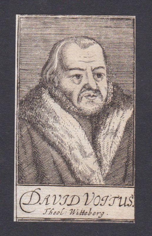 17. Jh. - David Voit / theologian Theologe Wittenberg Portrait Kupferstich