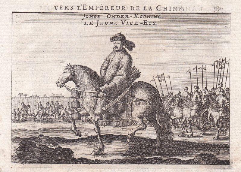 Kaiser emperor China Asia Asien Ansicht view Kupferstich antique print Nieuhof