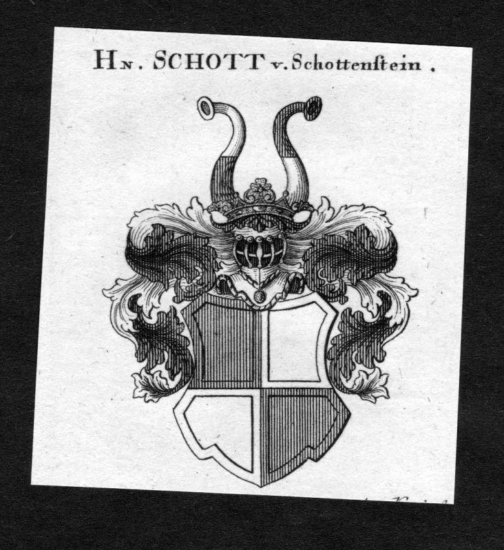 1820 - Schott von Schottenstein Wappen Adel coat of arms heraldry Heraldi 126069