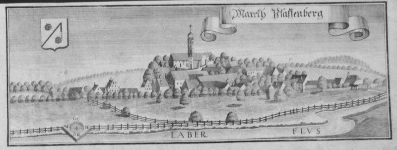1701 - Pfaffenberg Mallersdorf Kupferstich Wening