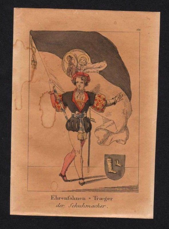 1835 - Schuhmacher Schuster Schuhe Original Lithographie lithography