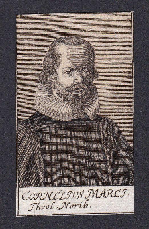 17. Jh. - Cornelius Marci / theologian Theologe Nürnberg Portrait Kupferstich
