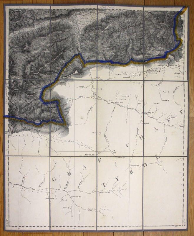 Um 1880 Scharfreuter Tirol Bayern Karwendel Vorkarwendel Alpen Karte map