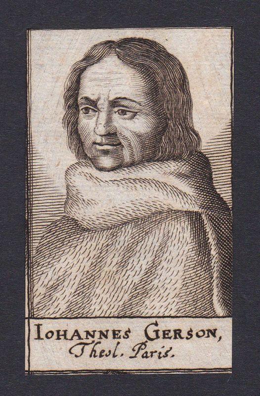 17. Jh. - Jean Gerson / reformer Theologe Paris Portrait Kupferstich