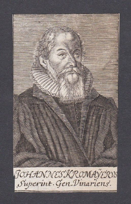 17. Jh. - Johannes Kromayer / theologian Theologe Weimar Portrait Kupferstich