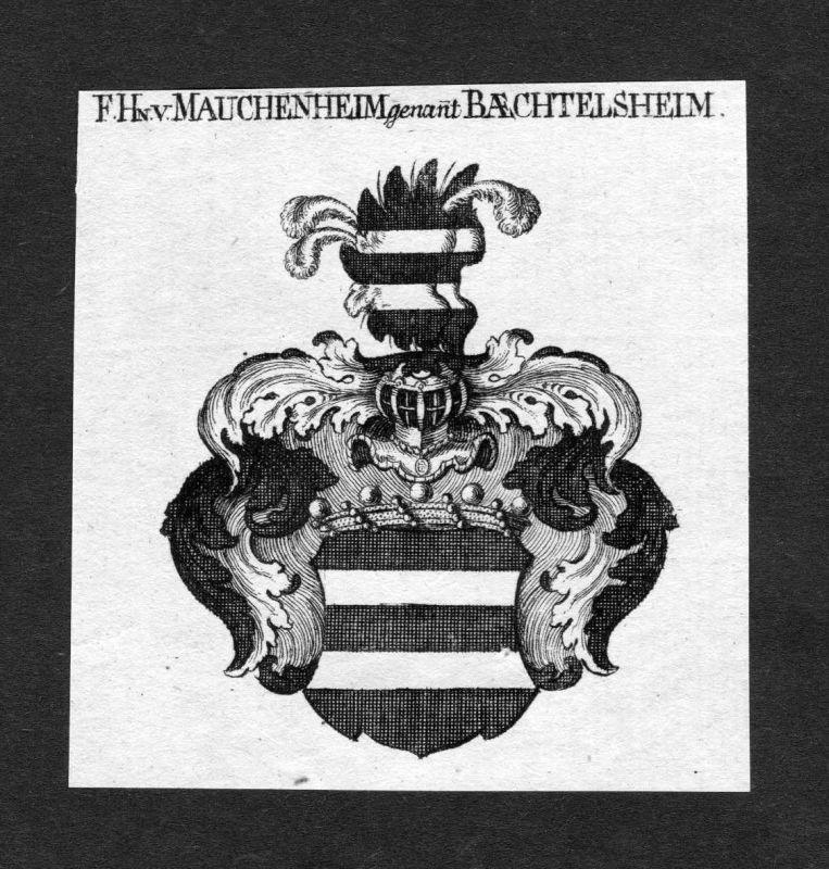 1820 - Mauchenheim Bechtolsheim Wappen Adel coat of arms heradlry Heraldik
