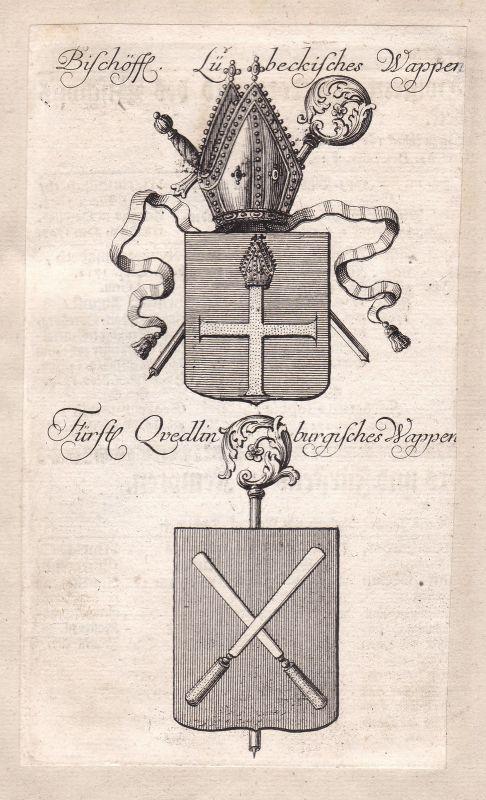 Lübeck Schleswig-Holstein Quedlinburg Sachsen-Anhalt Adel Wappen coat of  157099