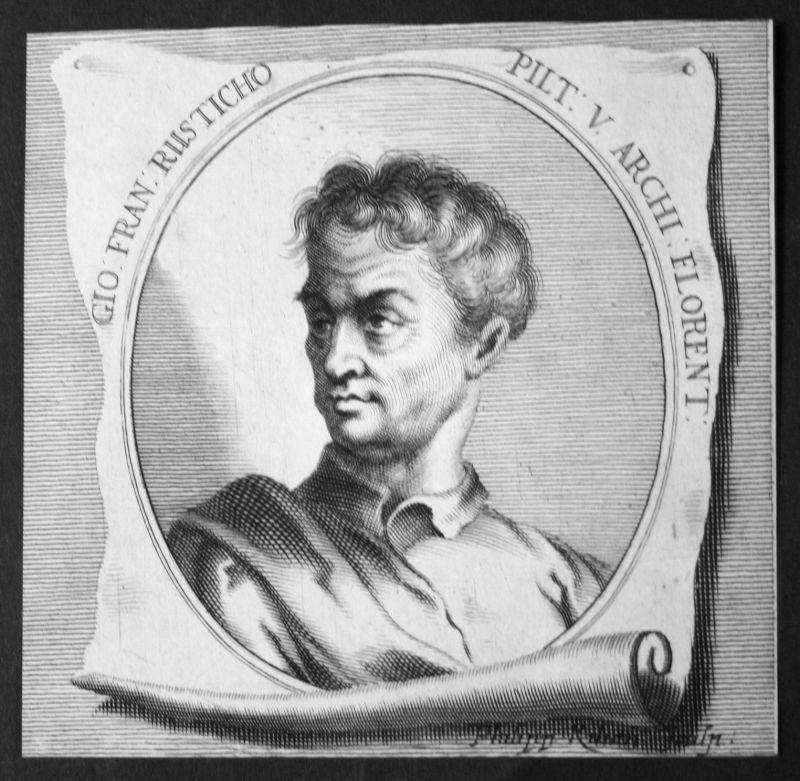 Giovanni Francesco Rustici Bildhauer sculptor Maler painter Kupferstich Portrait
