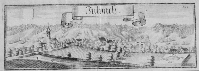 1701 - Julbach Inntal Rottal-Inn Kupferstich Wening