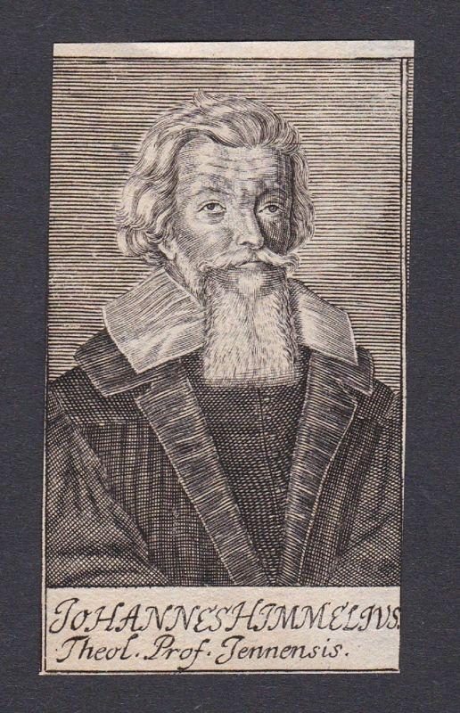 17. Jh. - Johann Himmel / theologian Theologe Jena Portrait Kupferstich