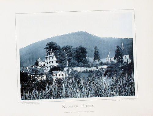 1896 - Kloster Hirsau original Fotografie  Foto photo vintage antik
