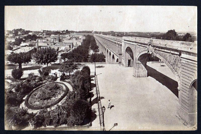 Ca. 1880 Aqueduc Montpellier N. D. albumen Foto photo vintage antique
