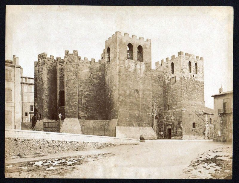 Ca. 1880 Abbaye Saint Victor Marseille albumen Foto photo vintage antique