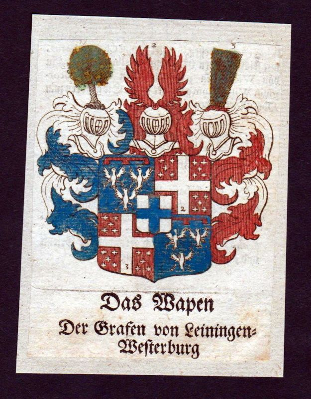 1750 - Leiningen-Westerburg Wappen Adel coat of arms heraldry Heraldik