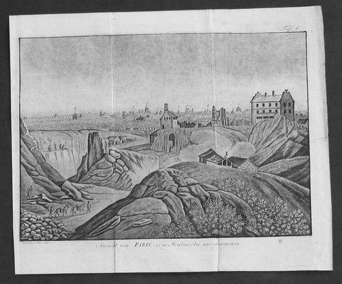 1804 - Paris Frankreich Aquatint Aquatinta originale