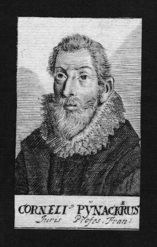 1680 - Cornelius Pynacker Kerckhoff Jurist lawyer Holland Kupferstich Portrait