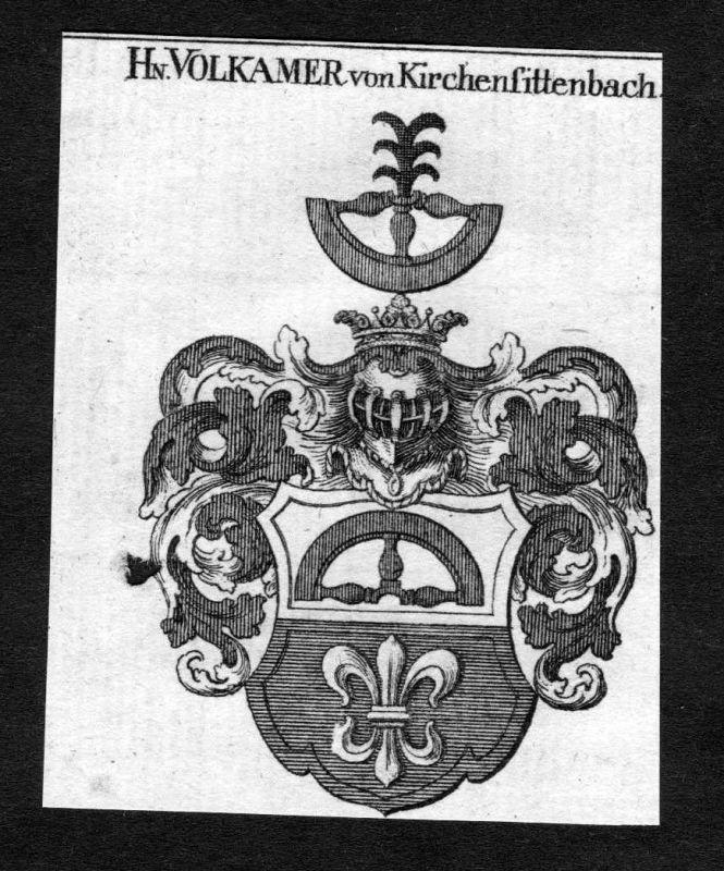 1820 Volkamer Volckamer von Kirchensittenbach Wappen Adel coat of arms He 126057