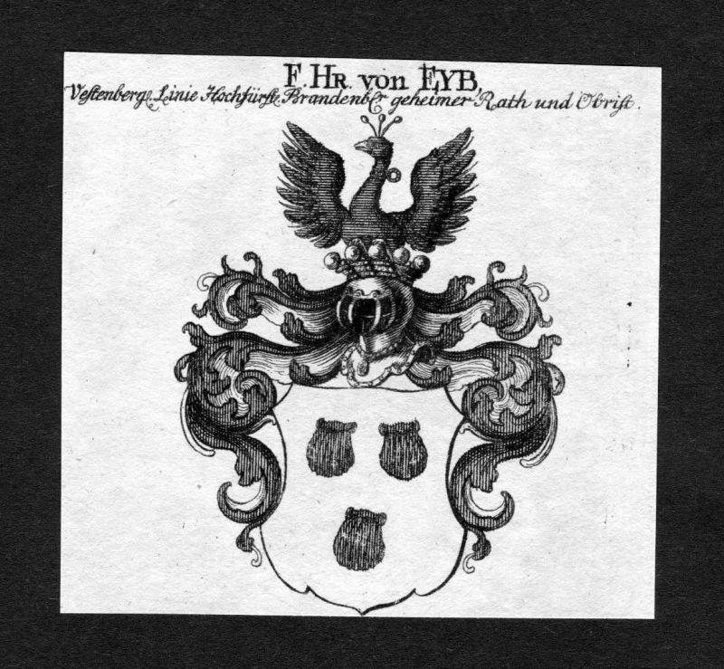 1820 - Eyb Eib Wappen Adel coat of arms heraldry Heraldik Kupferstich