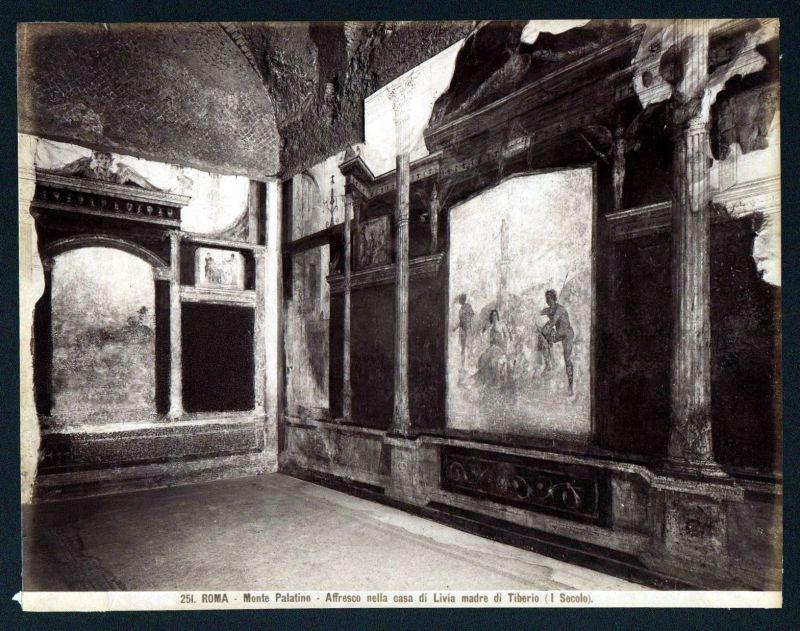 Ca. 1880 Monte Palatino Roma Rome Rom albumen Foto photo vintage antique 112714