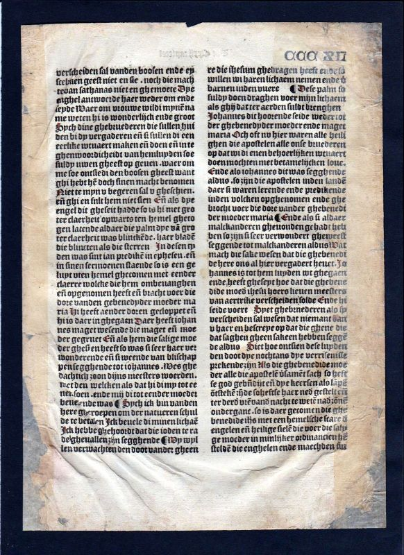 1499 Blatt CCCXII Inkunabel Vita Christi Zwolle incunable Dutch Holland