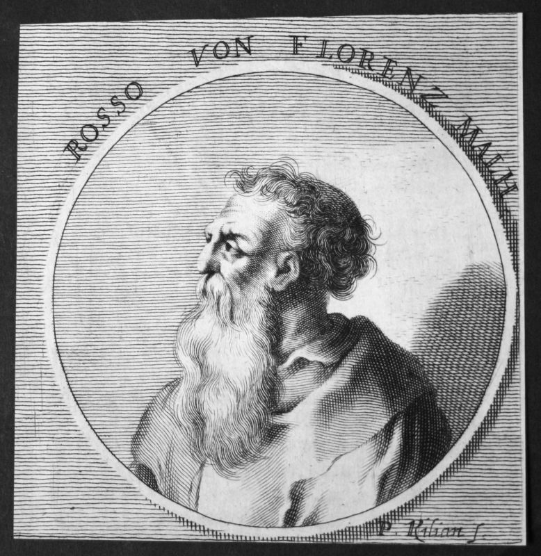 1700 Rosso Fiorentino Florenz Italien Italia Maler painter Kupferstich Portrait