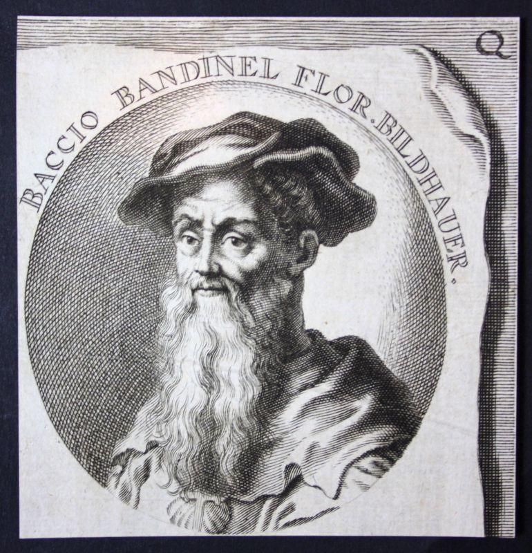 1700 Baccio Bandinelli Italia Italien Bildhauer sculptor Kupferstich Portrait
