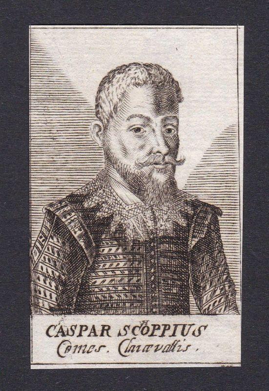 17. Jh. - Caspar Schoppe / scholar Publizist Padova Portrait Kupferstich