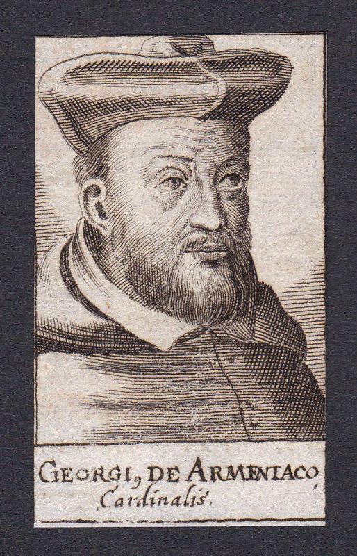 17. Jh. - Georgius de Armeniaco / cardinal Theologe Leiden Portrait Kupferstich
