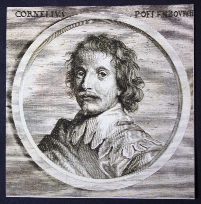 1700 Cornelis van Poelenburgh Maler painter Barock Kupferstich etching Portrait