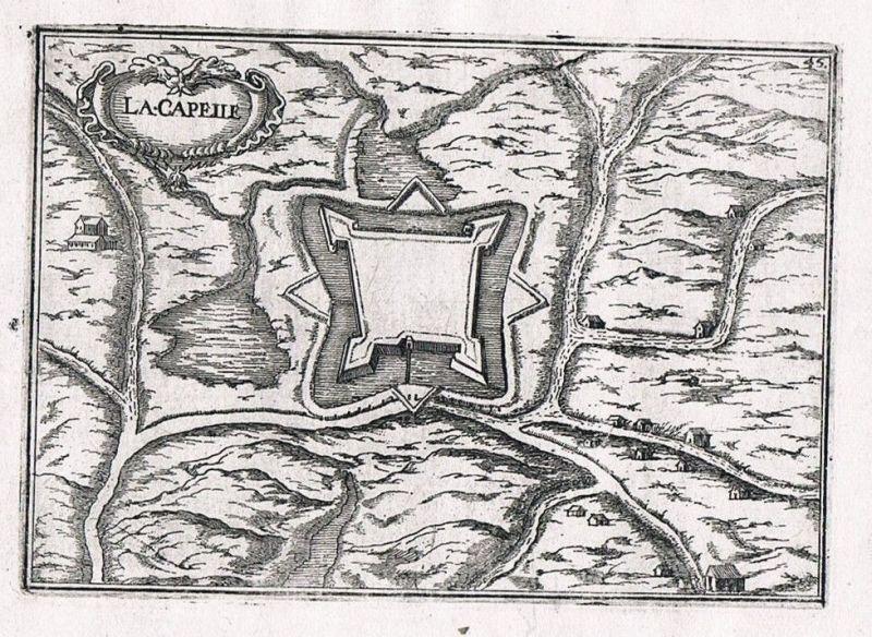 1660 - Crecy-la-Chapelle Ile-de-France Seine-et-Marne gravure Kupferstich Tassin