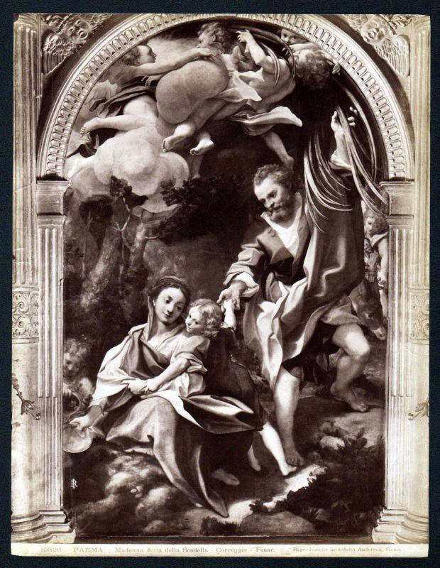 Ca. 1880 Madonna delta della Scodella Correggio Parma albumen Foto photo vintage