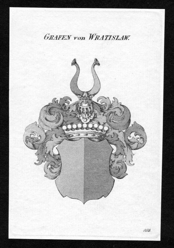 1820 - Wratislaw von Mitrowitz Wappen Adel coat of arms heraldry Heraldik